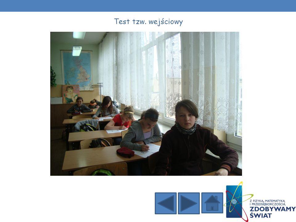 Zgodnie z założeniami projektu uczniowie wypełnili dwa testy: Test tzw.
