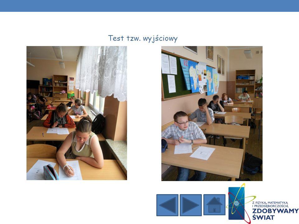 Test tzw. wyjściowy