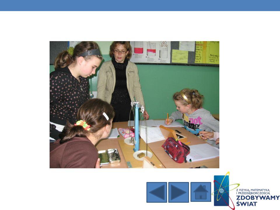 Głównym założeniem naszych zajęć było przeprowadzenie jak największej ilości doświadczeń pomiarów i eksperymentów przez uczestników projektu.