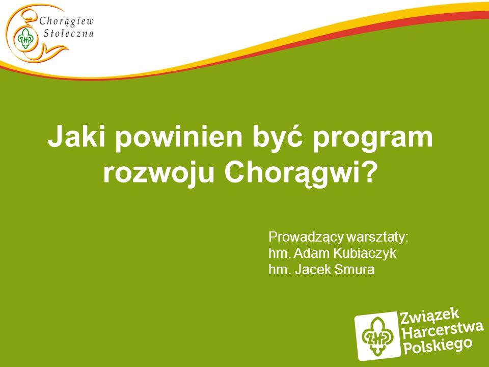 Jaki powinien być program rozwoju Chorągwi? Prowadzący warsztaty: hm. Adam Kubiaczyk hm. Jacek Smura