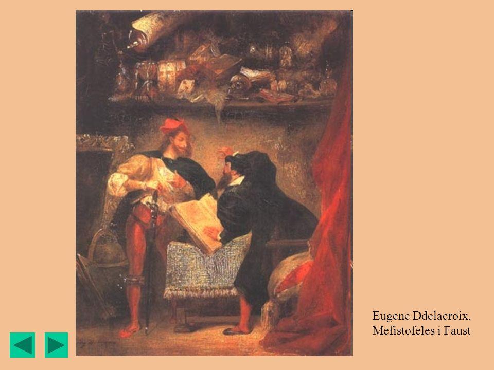 Eugene Ddelacroix. Mefistofeles i Faust
