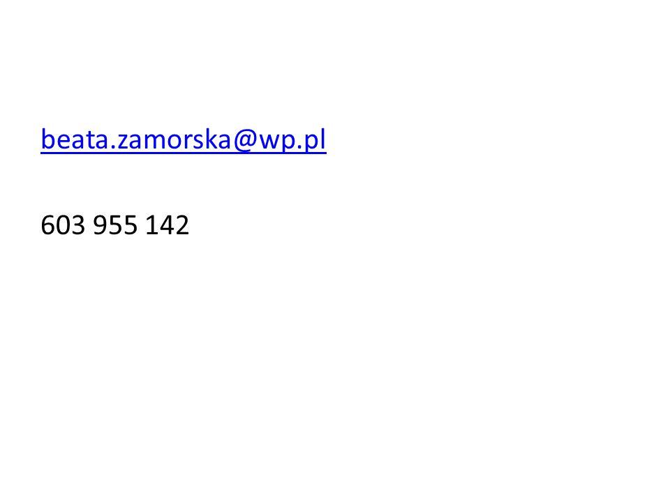 beata.zamorska@wp.pl 603 955 142