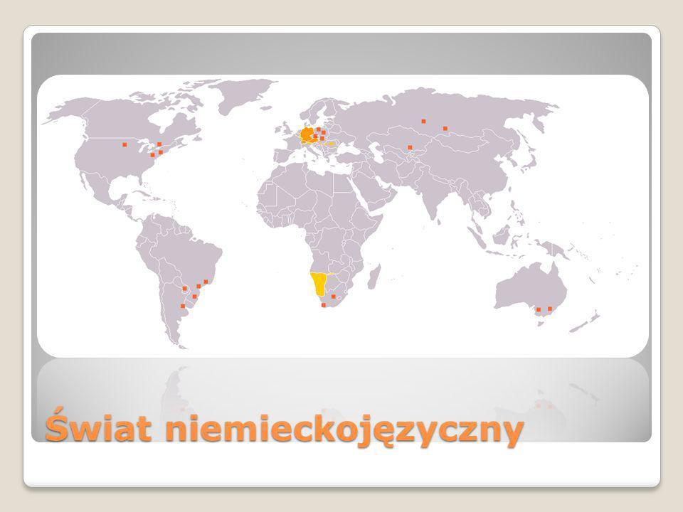Niemiecki jest językiem urzędowym w: -Austria -Belgia -Liechtenstein -Luksemburg -Niemcy -Szwajcaria -Unia Europejska (język oficjalny i roboczy)