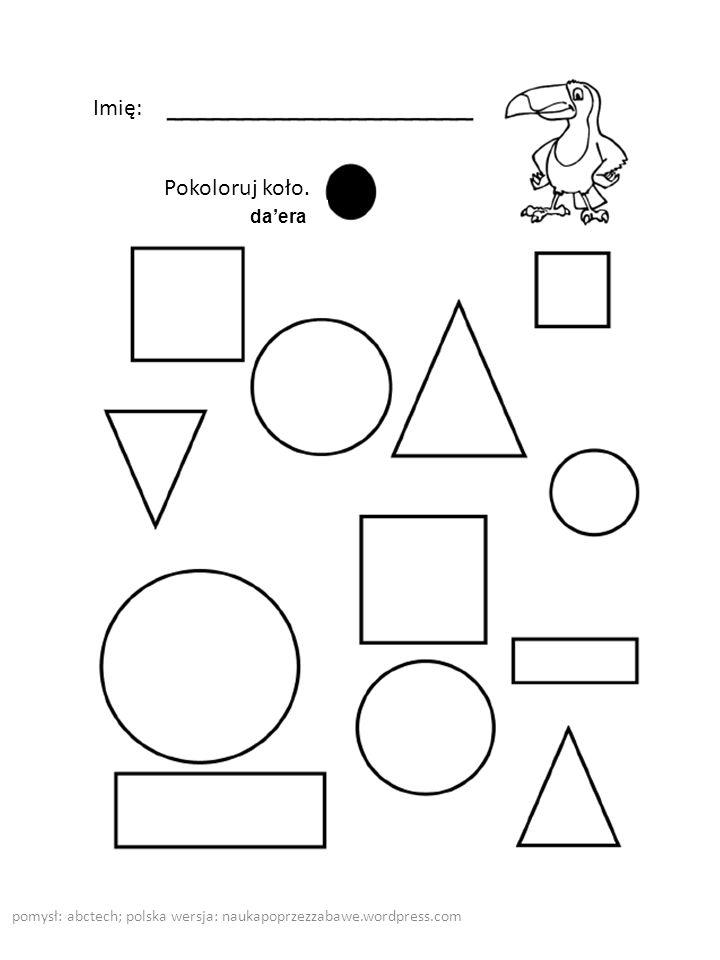 pomysł: abctech; polska wersja: naukapoprzezzabawe.wordpress.com Imię: Połącz kropki, aby powstał prostokąt.