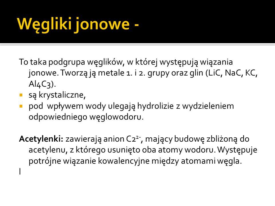 Wodorki typu soli – związki tworzące sieci jonowe, powstające w wyniku reakcji wodoru z litowcami i berylowcami (oprócz berylu i magnezu).