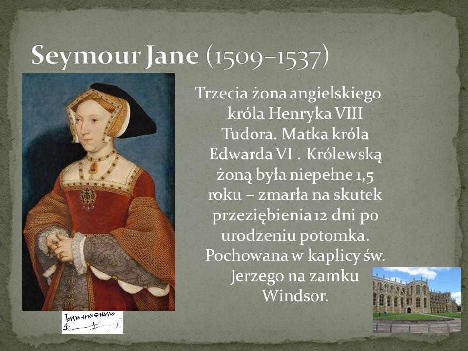 Trzecia żona angielskiego króla Henryka VIII Tudora. Matka króla Edwarda VI. Królewską żoną była niepełne 1,5 roku – zmarła na skutek przeziębienia 12