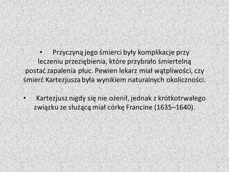 Mathematical legacy Swój dorobek w dziedzinie matematyki zebrał w jednym dziale Geometria (1637).