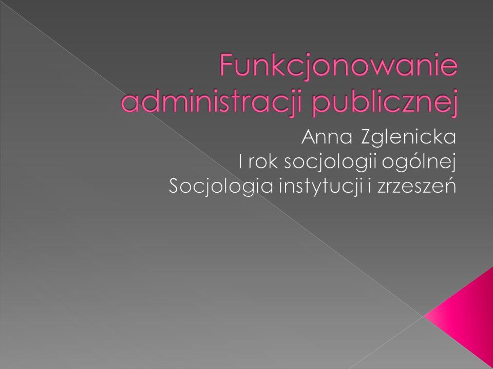 Rodzaj działalności prowadzonej przez różne jednostki celem realizacji zadań uznanych za publiczne, określonych w ustawach i innych aktach