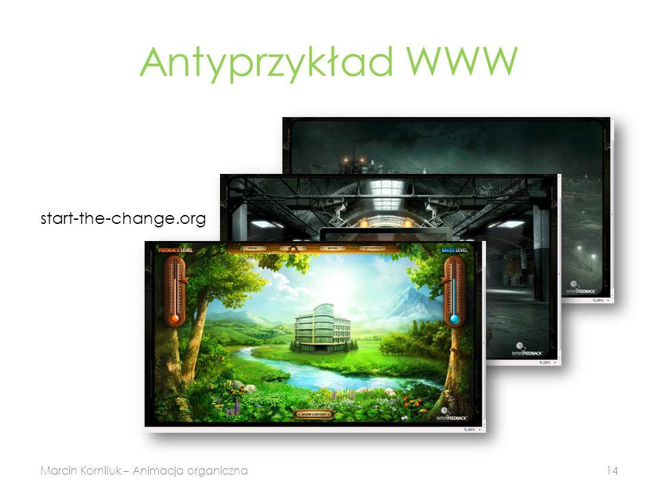 Antyprzykład WWW Marcin Korniluk – Animacja organiczna14 start-the-change.org