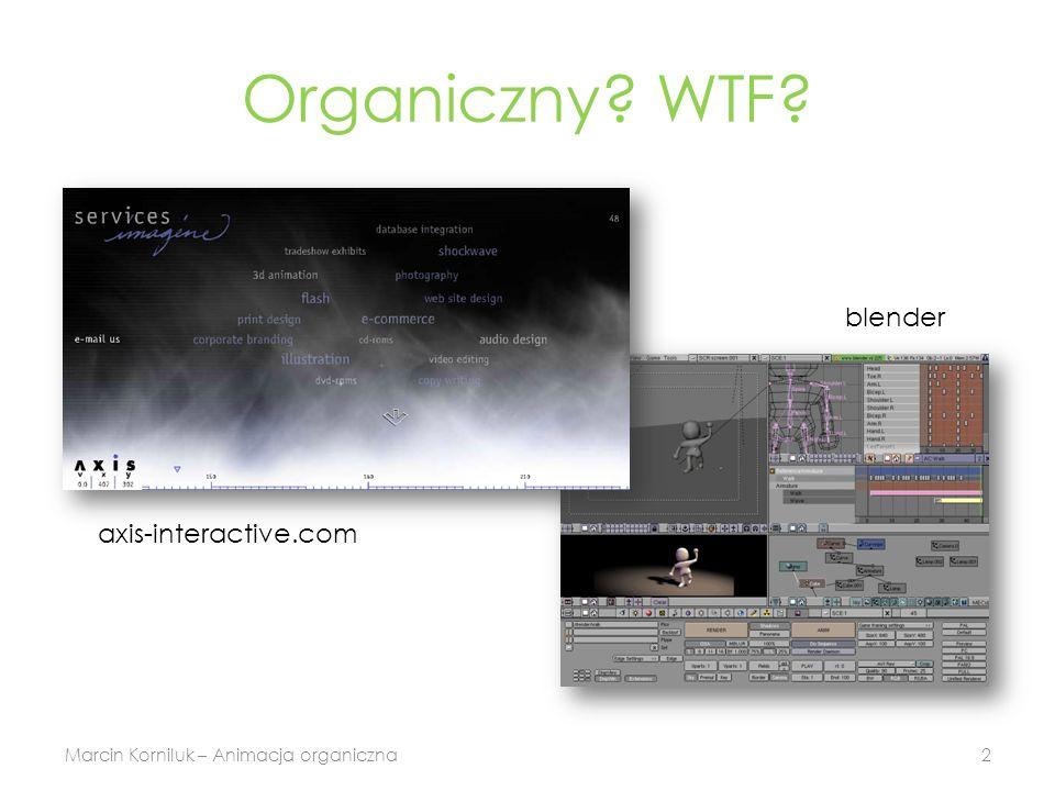 Organiczny WTF Marcin Korniluk – Animacja organiczna2 blender axis-interactive.com