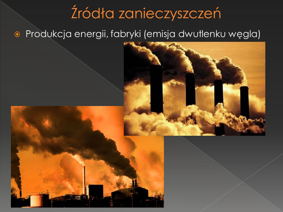 Produkcja energii, fabryki (emisja dwutlenku węgla)
