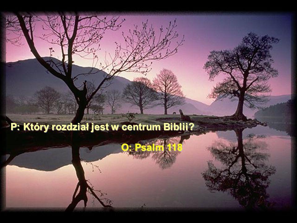 Fakty: Mamy 594 rozdzia ł y przed Psalmem 118.I mamy 594 rozdzia ł y po Psalmie 118.