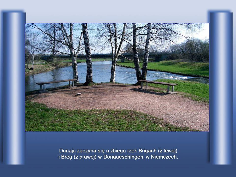Dunaj, z jego długością wynoszącą 2850 km, jest drugą po Wołdze pod względem długości rzeką Europy. Jego źródła znajdują się w Schwarzwaldzie w połudn