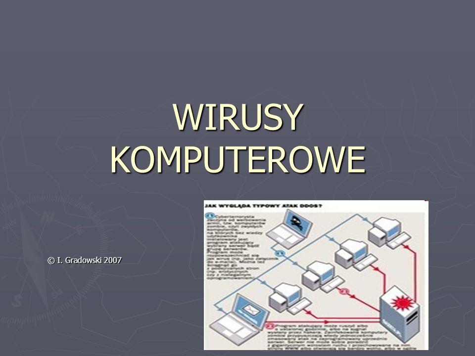 WIRUSY KOMPUTEROWE © I. Gradowski 2007