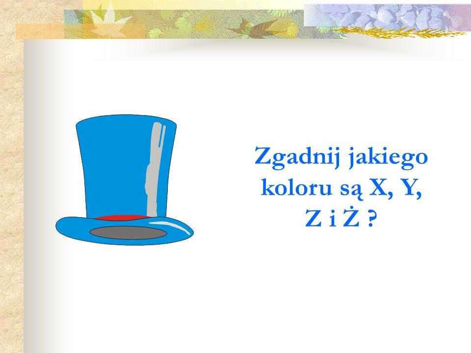 Zgadnij jakiego koloru są X, Y, Z i Ż ?