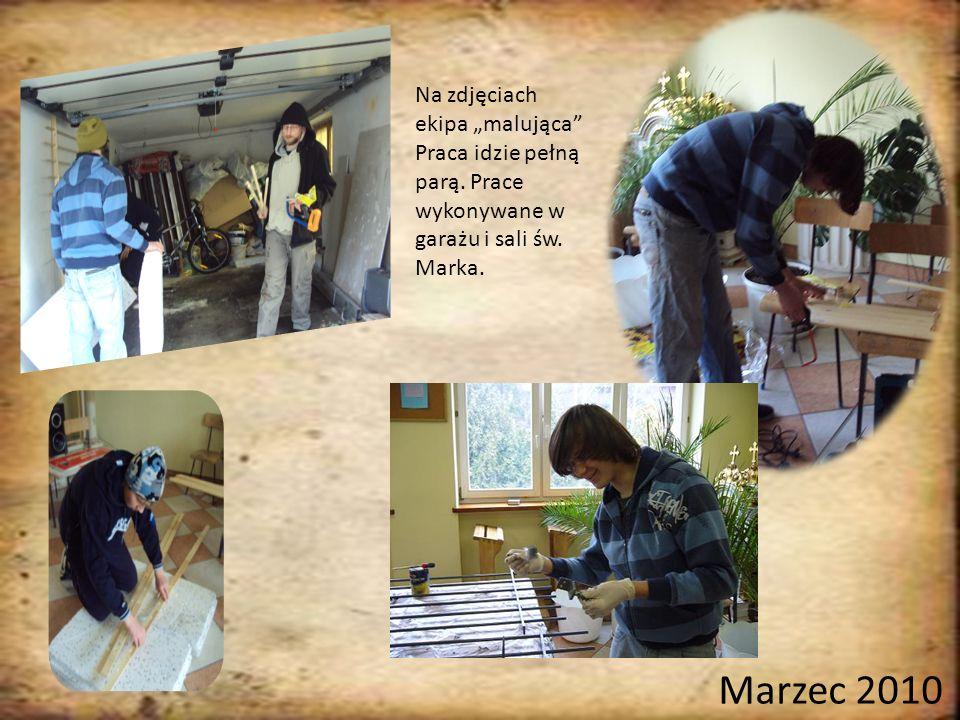Na zdjęciach ekipa malująca Praca idzie pełną parą.