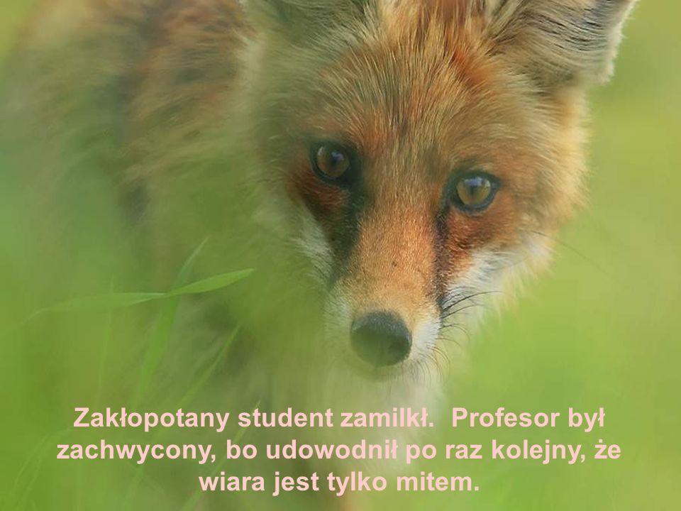 - A zło, panie profesorze, czy zło istnieje? Tym razem profesor nic nie odpowiedział.