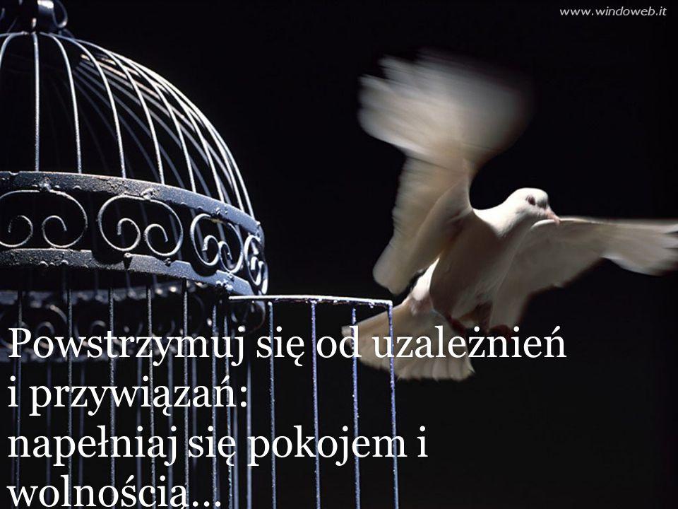 Powstrzymuj się od uzależnień i przywiązań: napełniaj się pokojem i wolnością… Powstrzymuj się od uzależnień i przywiązań: napełniaj się pokojem i wolnością…