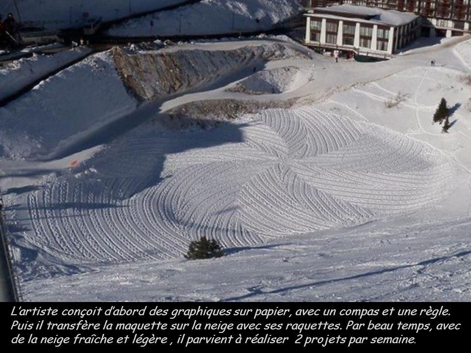 LES ARCS Simon Beck pochodzi z południowej Anglii ale tworzy w ośrodku narciarskim Les Arcs we francuskich Alpach, gdzie ma domek i spędza większość z
