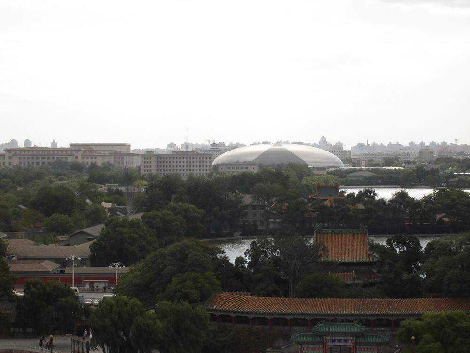 Budynek jest pokryty kopułą ze szkła i tytanu o wymiarach: 212 metrów długości, 143 szerokości i 46 wysokości.