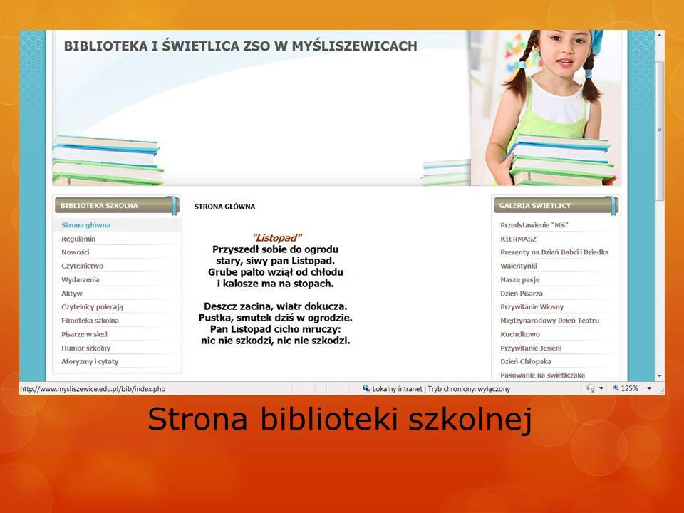 Strona biblioteki szkolnej