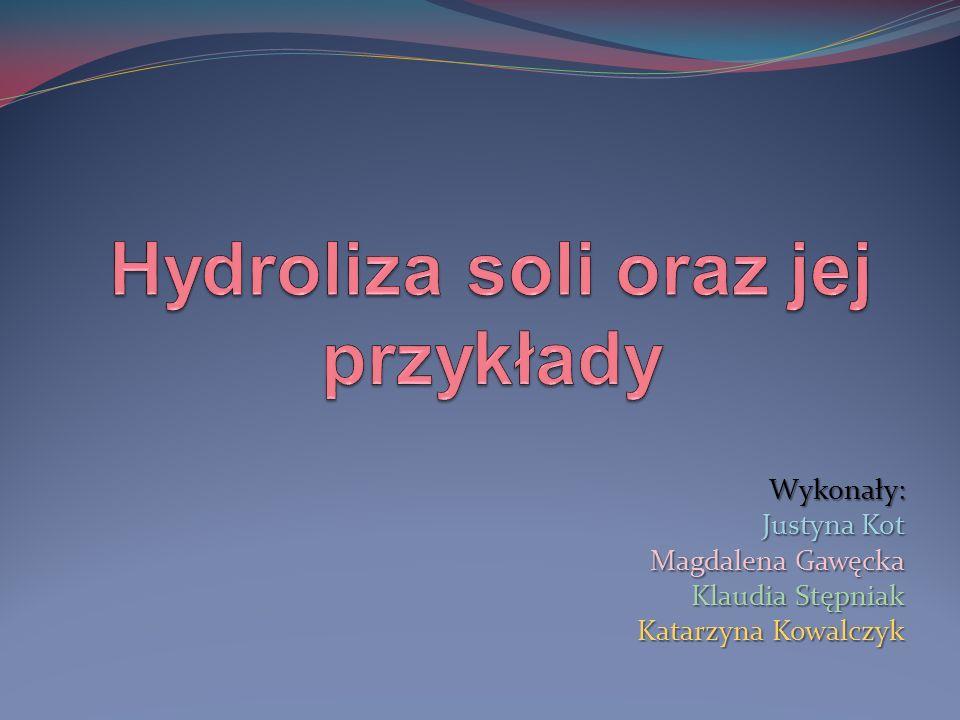 Na koniec możemy opisać naszą reakcję: Jeżeli w ostatniej reakcji pojawił się kation wodoru (H+) – jest to hydroliza kationowa, odczyn jest kwaśny, a pH mniejsze niż 7.