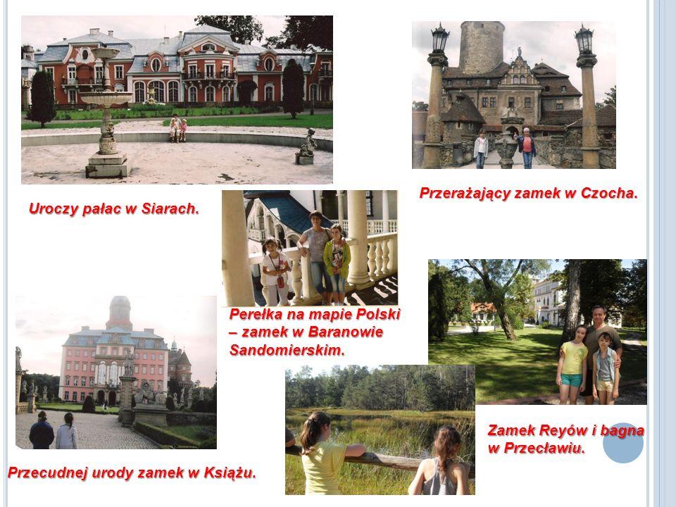 Zamek Reyów i bagna w Przecławiu.Uroczy pałac w Siarach.