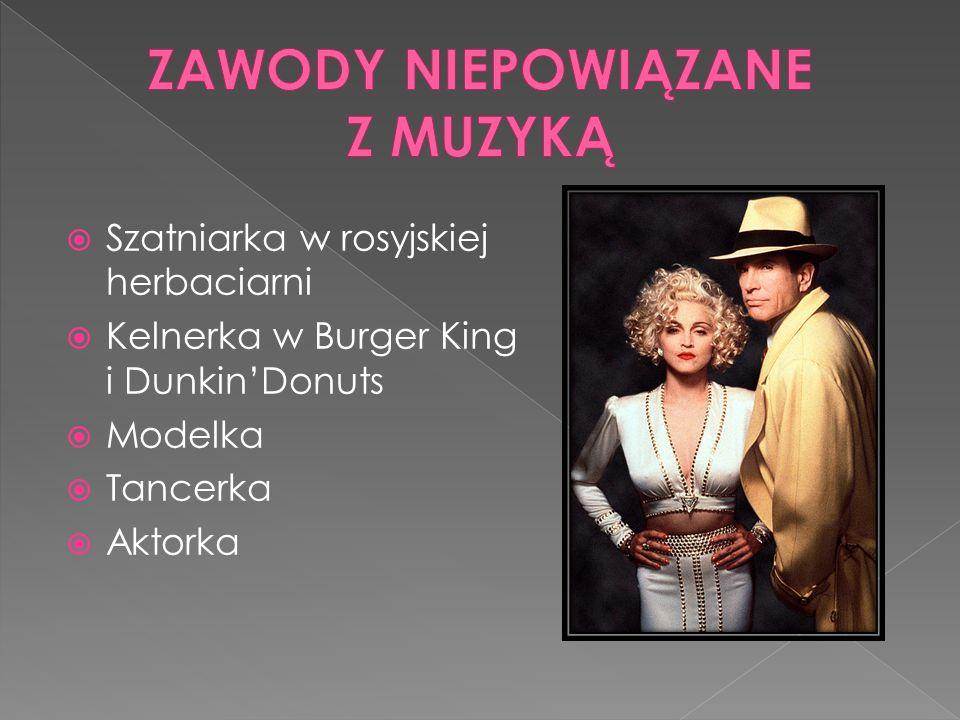 Szatniarka w rosyjskiej herbaciarni Kelnerka w Burger King i DunkinDonuts Modelka Tancerka Aktorka