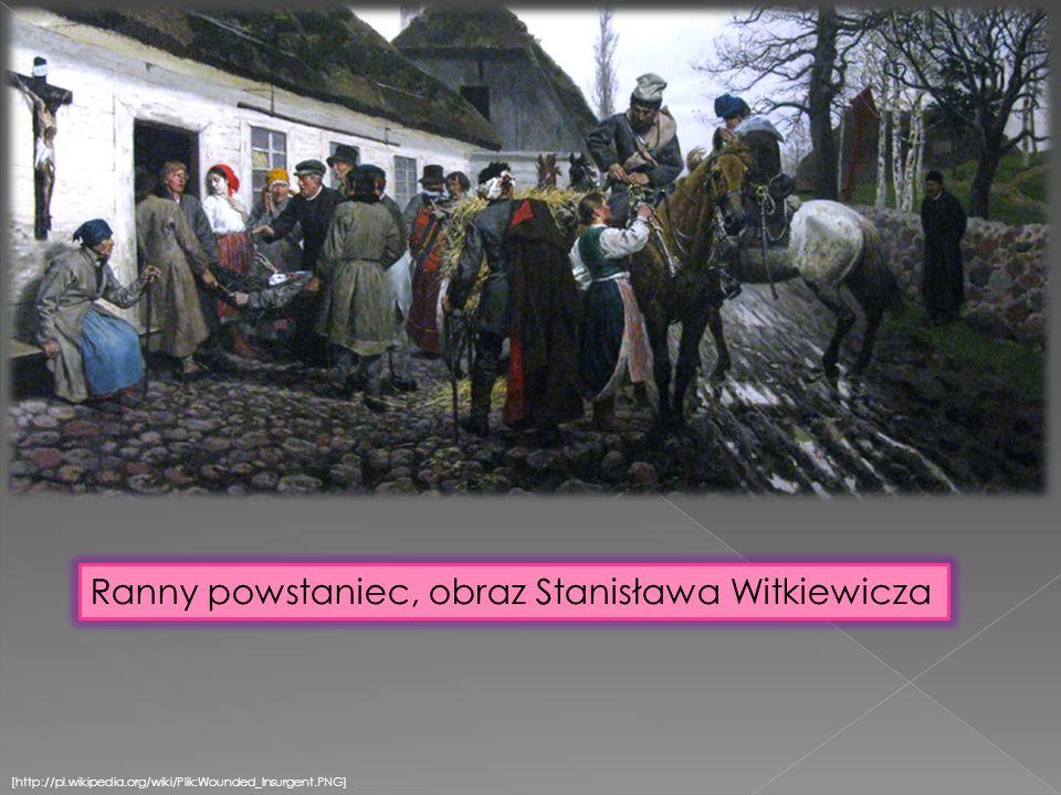 [http://pl.wikipedia.org/wiki/Plik:Wounded_Insurgent.PNG] Ranny powstaniec, obraz Stanisława Witkiewicza
