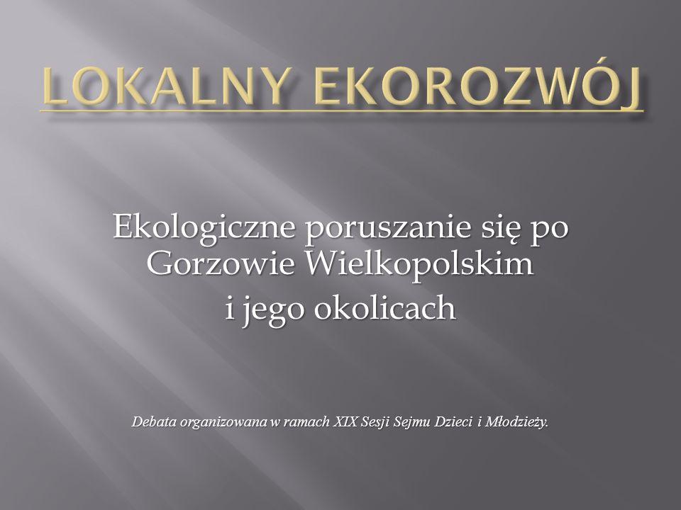Ekologiczne poruszanie się po Gorzowie Wielkopolskim i jego okolicach Debata organizowana w ramach XIX Sesji Sejmu Dzieci i Młodzieży.
