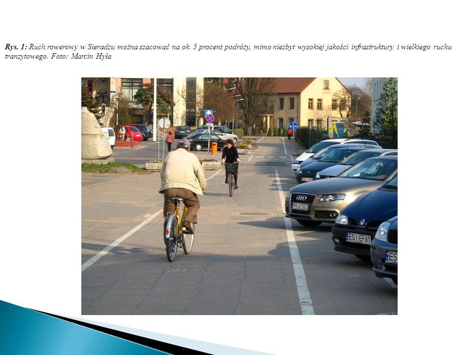 Rys. 1: Ruch rowerowy w Sieradzu można szacować na ok.