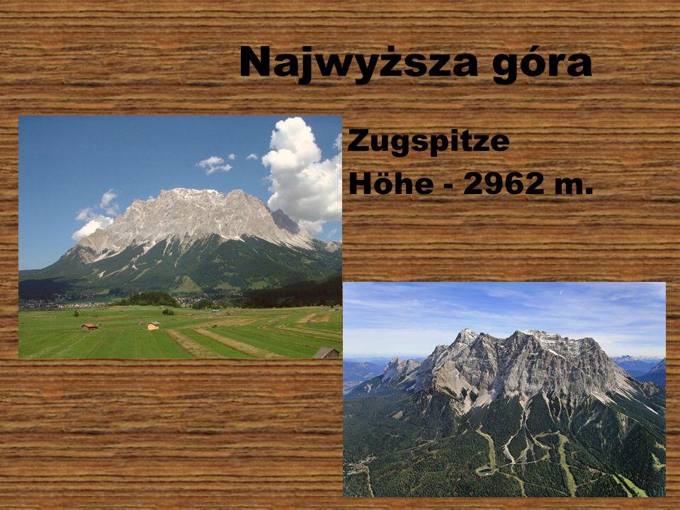 Najwyższa góra Zugspitze Höhe - 2962 m.