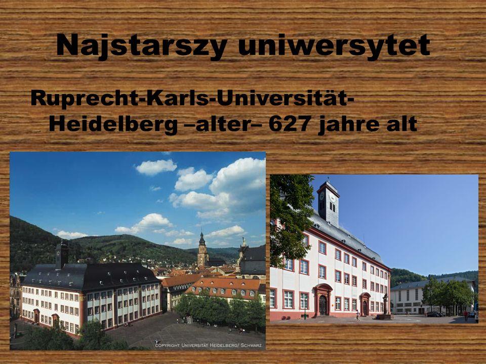 Najstarszy uniwersytet Ruprecht-Karls-Universität- Heidelberg –alter– 627 jahre alt