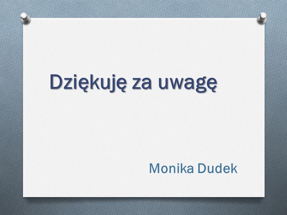 Dziękuję za uwagę Monika Dudek