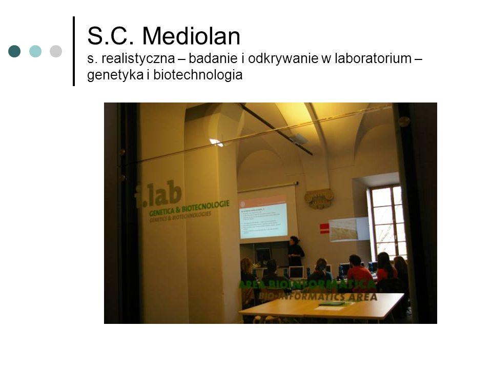 S.C. Mediolan s. realistyczna – badanie i odkrywanie w laboratorium – genetyka i biotechnologia