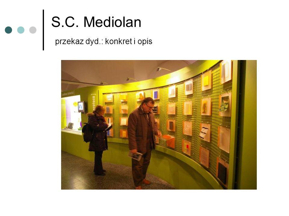 S.C. Mediolan przekaz dyd.: konkret i opis