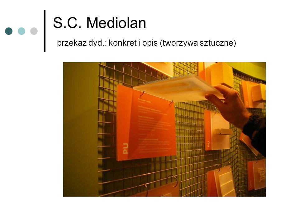 S.C. Mediolan przekaz dyd.: konkret i opis (tworzywa sztuczne)