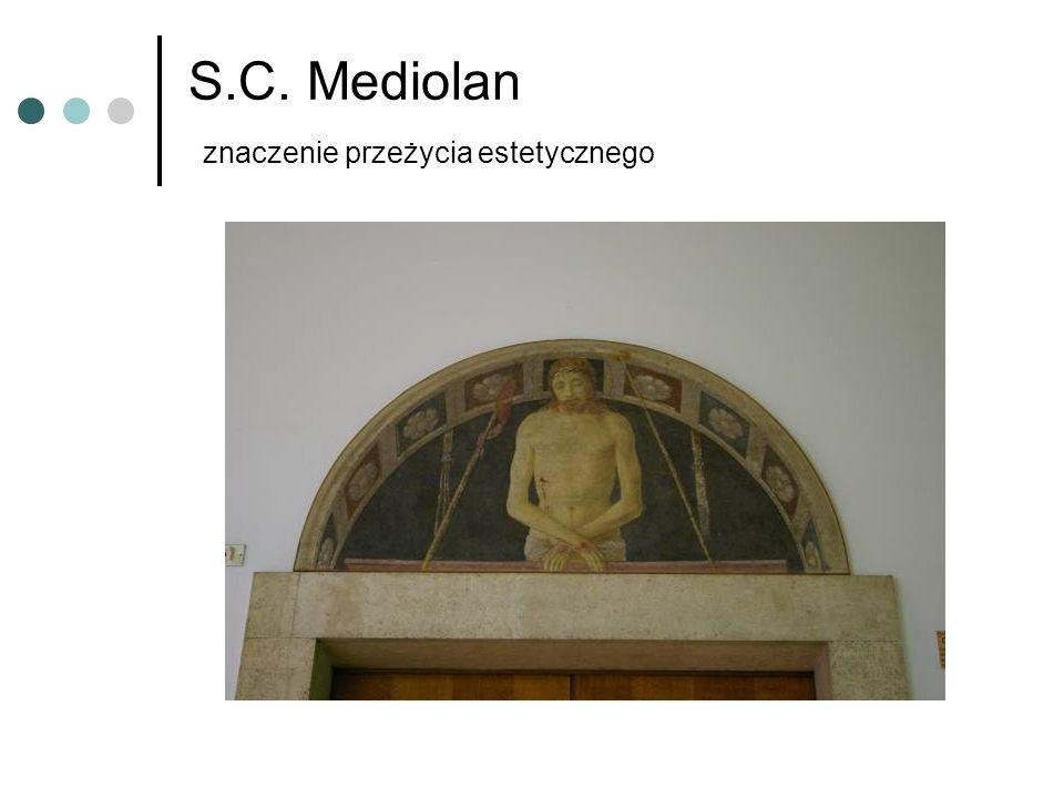 S.C. Mediolan znaczenie przeżycia estetycznego