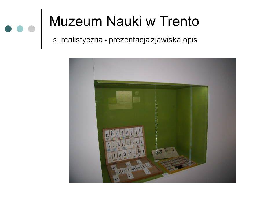 Muzeum Nauki w Trento s. realistyczna - prezentacja zjawiska,opis