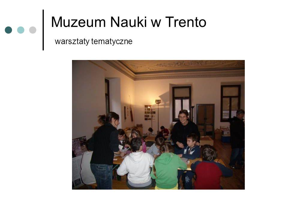 Muzeum Nauki w Trento warsztaty tematyczne