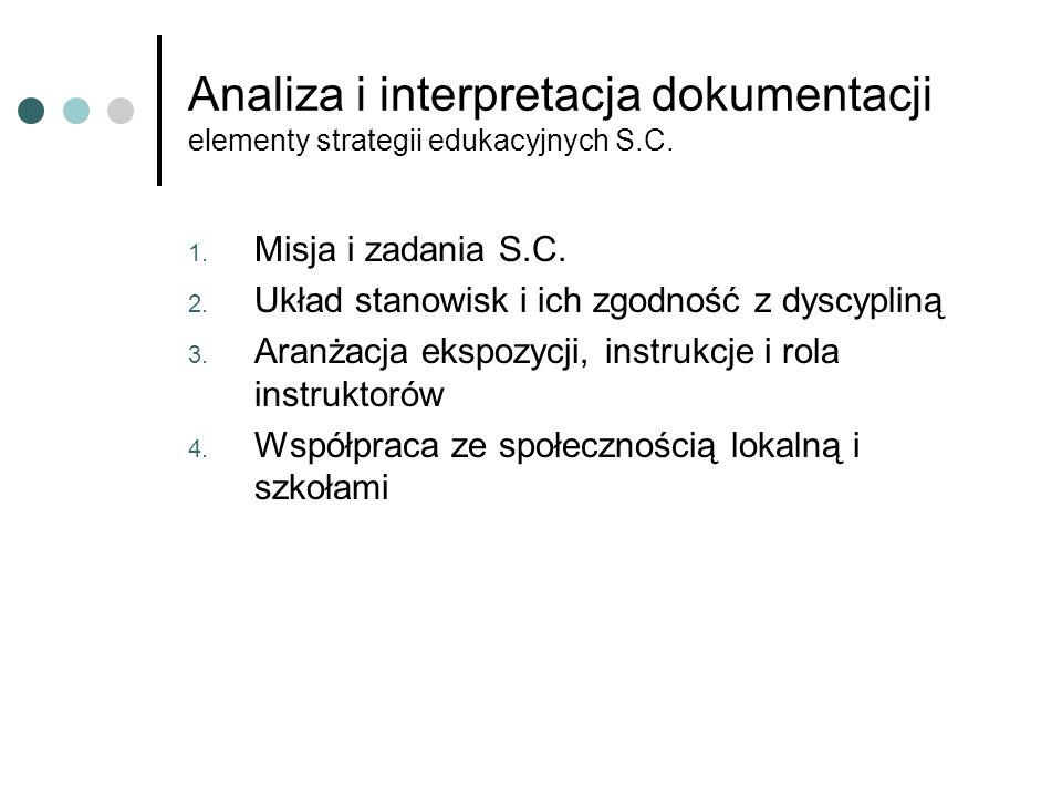 Analiza i interpretacja dokumentacji elementy strategii edukacyjnych S.C.