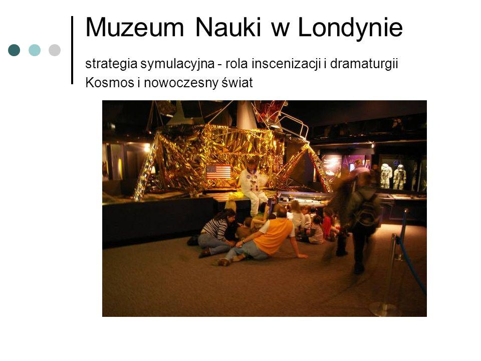 Muzeum Nauki w Londynie strategia symulacyjna - rola inscenizacji i dramaturgii Kosmos i nowoczesny świat