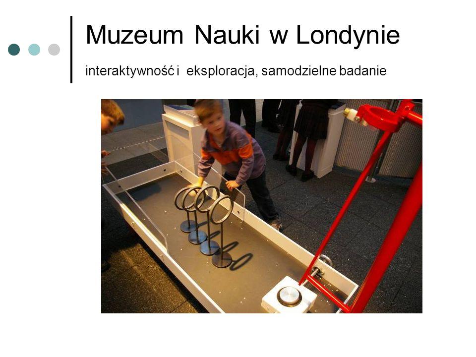 Muzeum Nauki w Londynie interaktywność i eksploracja, samodzielne badanie