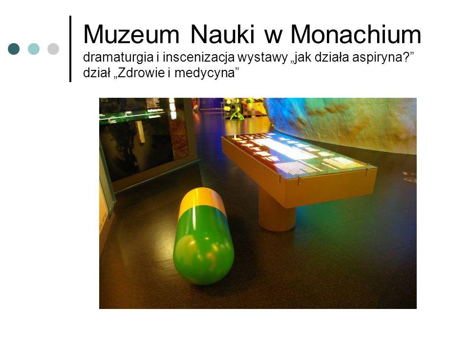 Muzeum Nauki w Monachium dramaturgia i inscenizacja wystawy jak działa aspiryna.