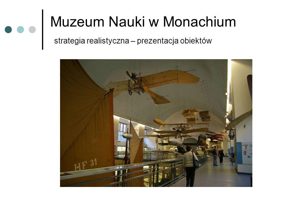 Muzeum Nauki w Monachium strategia realistyczna – prezentacja obiektów