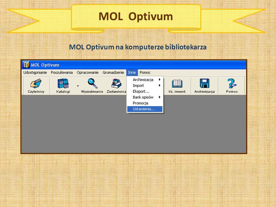 MOL Optivum na komputerze bibliotekarza
