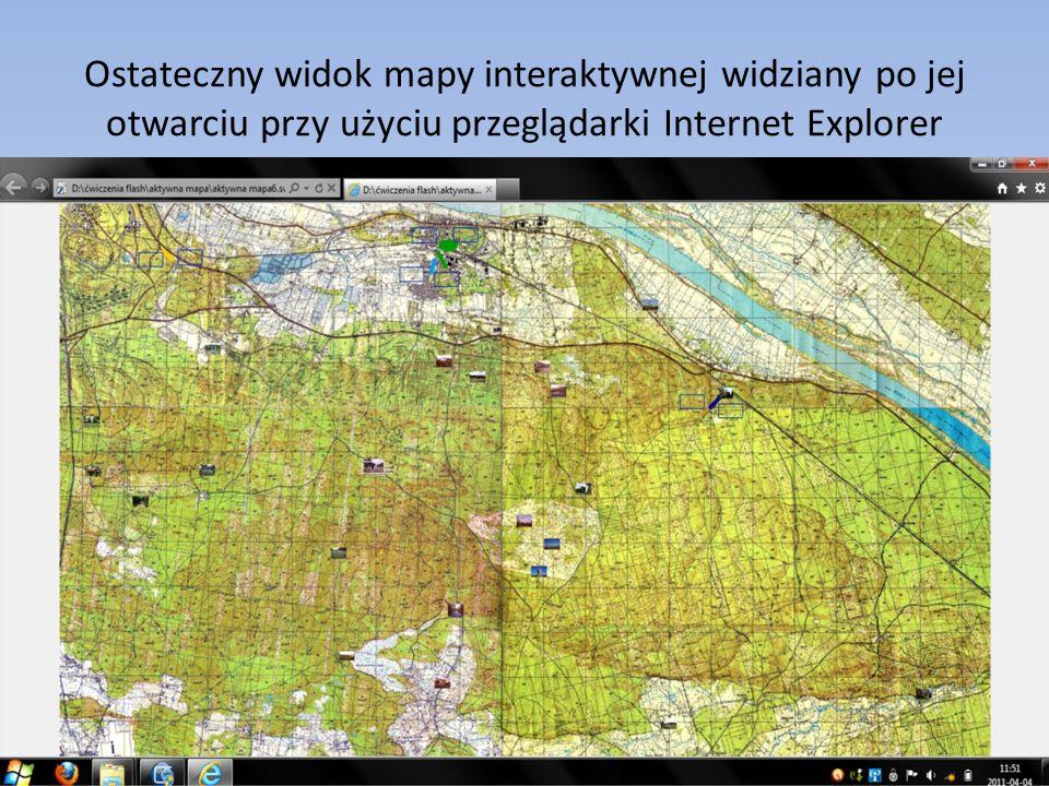 Ostateczny widok mapy interaktywnej widziany po jej otwarciu przy użyciu przeglądarki Internet Explorer