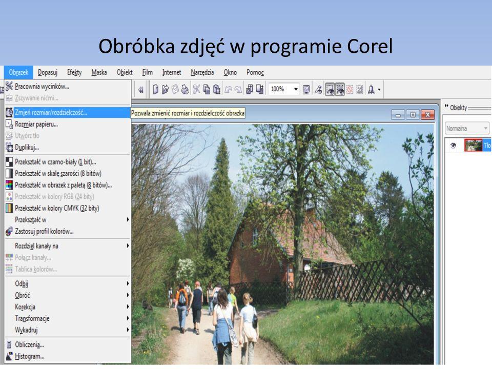 Obróbka zdjęć w programie Corel