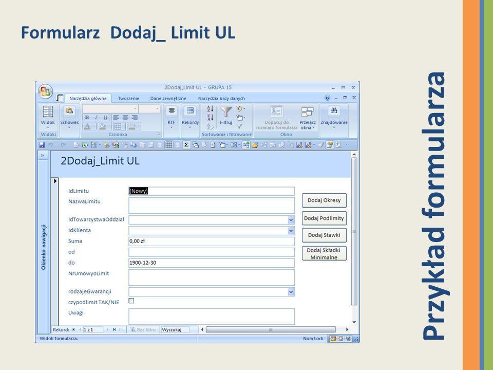 Formularz Dodaj_ Limit UL Przykład formularza