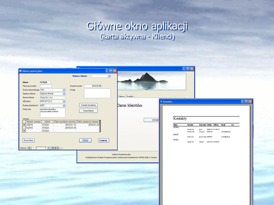 Główne okno aplikacji (karta aktywna - Klienci)